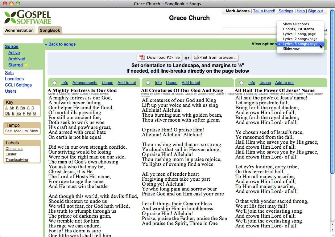 Sample sheet music, lyrics ...